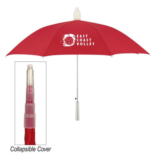Umbrella With Collapsible Cover