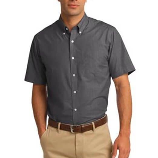 Port Authority Short Sleeve Crosshatch Shirt