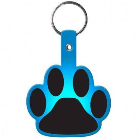 Custom Printed Paw Flexible Key-Tag