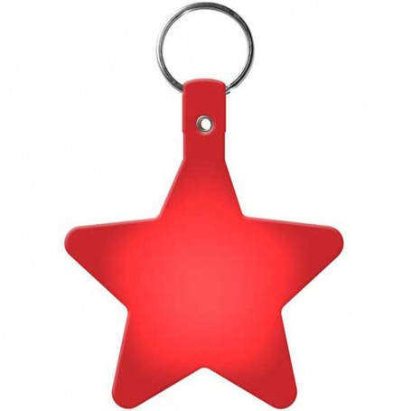 Imprintable Star Flexible Key-Tag
