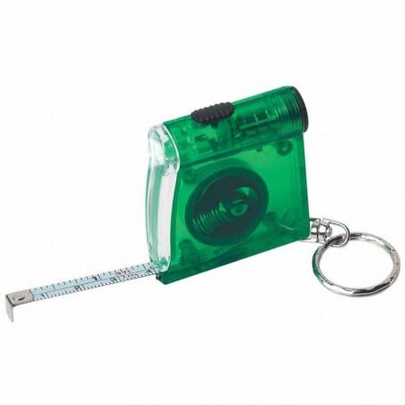 Imprinted Tape Measure LED Flashlight Key Chain