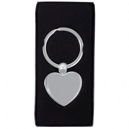 Printed Heart Metal Key Chain