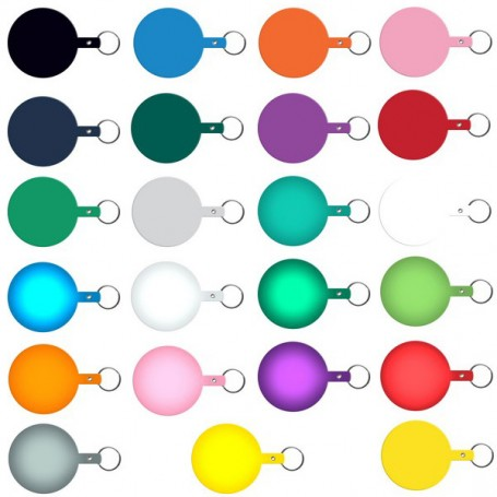 Promotional Large Circle Flexible Key-Tag