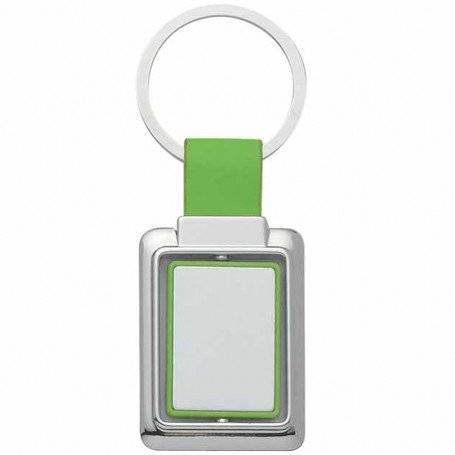 Promotional Rectangle Metal Spinner Key Tag