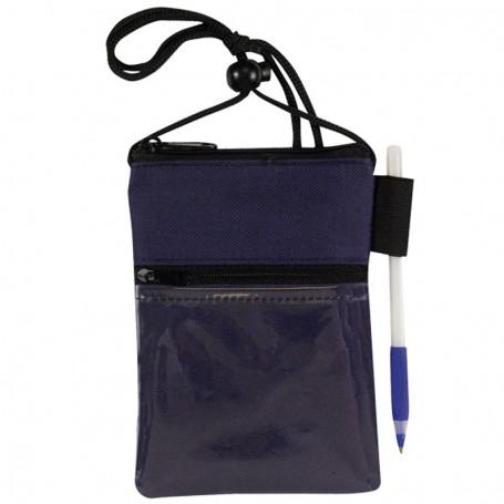 Zippered Pocket Badge Holder