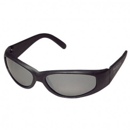 Wrap Style Sunglasses with Matte Black Frames