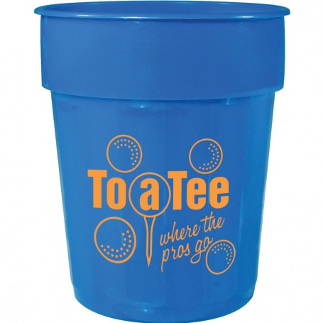 16oz Printed Fluted Stadium Cup