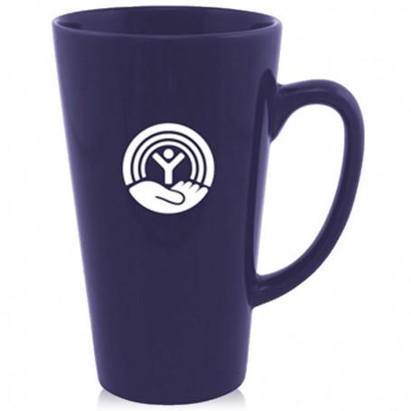 16oz Tall Printed Glossy Latte Ceramic Mug