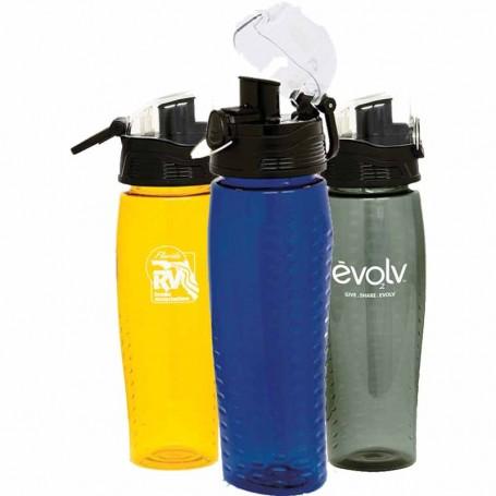 24oz Customizable Groove BPA Free Sports Bottle