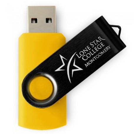 8GB Black Swivel USB Drive