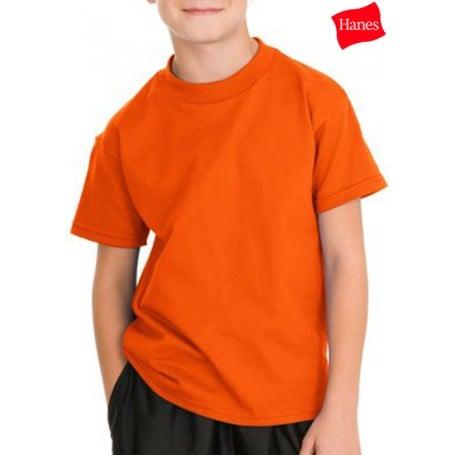 Hanes Youth Tagless 100% Cotton T-Shirt