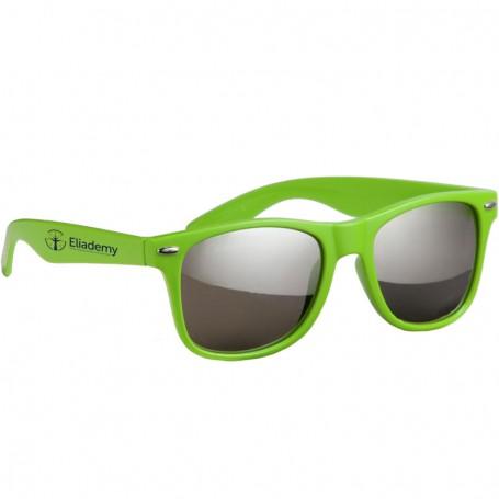 Custom Silver Mirror Lens Malibu Sunglasses