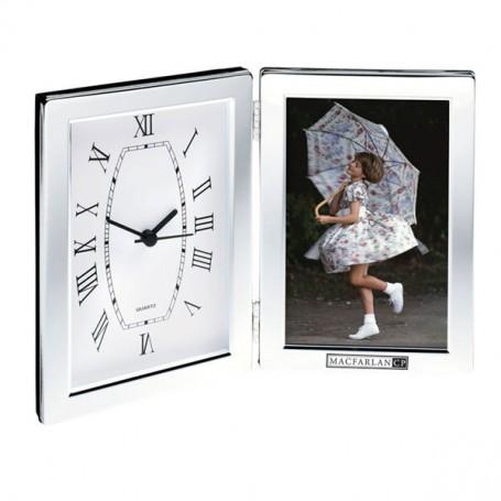 "Promotional 4""x6"" Photo Frame & Hinged Clock"
