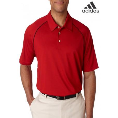 Adidas ClimaLite Piped Pique Colorblock Polo