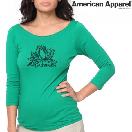 American Apparel 6344 / Sheer Jersey 3/4 Sleeve Boatneck