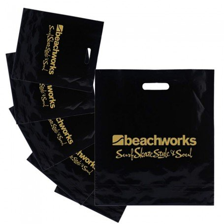 Customizable Black and Color Patch Handle Bags