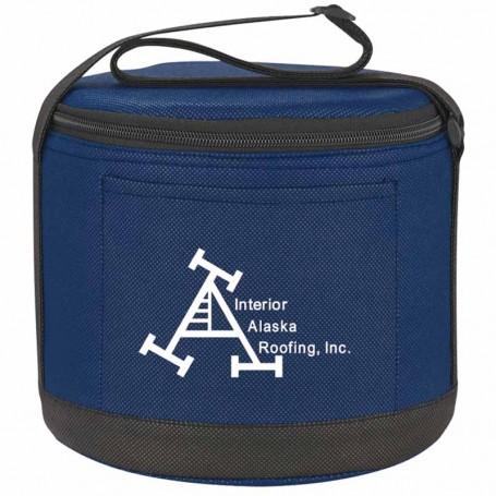 Logo Cans-To-Go Non-Woven Round Kooler Bag