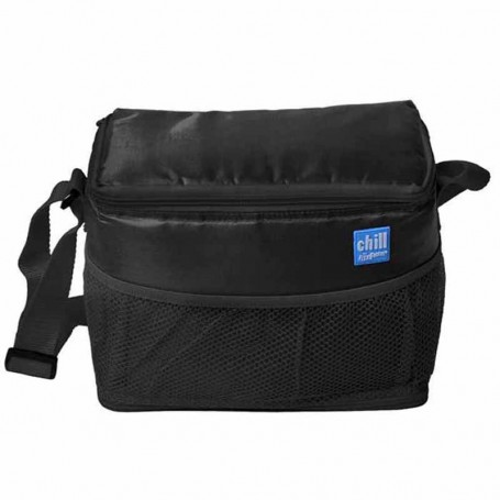 Promotional 6-Can Cooler with Mesh Pockets