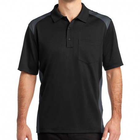 CornerStone Select Snag-Proof Two Way Colorblock Pocket Polo (Apparel)
