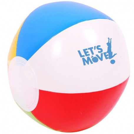 "Custom 6"" Multi Colored Beach Ball"