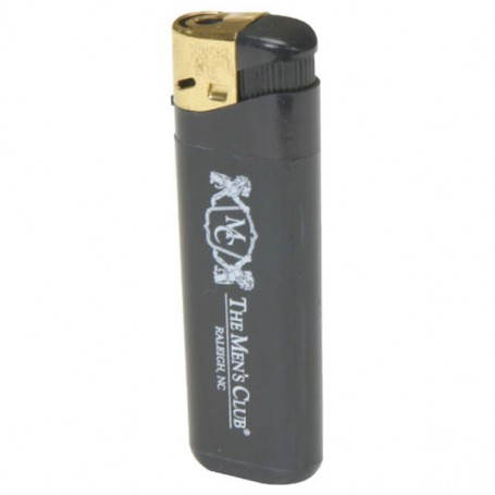 Custom Black w/Gold Cap Electronic Lighter