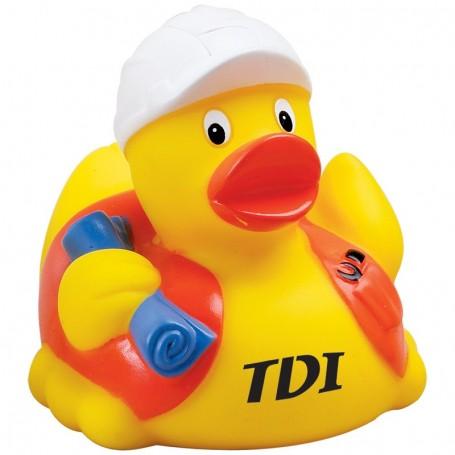 Custom Construction Worker Rubber Duck