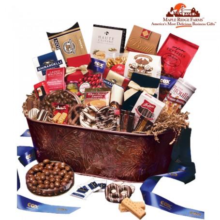 Custom Copper Gift Basket