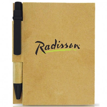 Custom Imprinted Recycled Notebook with Pen