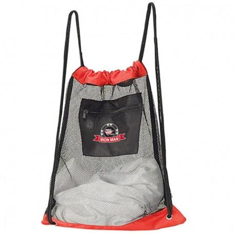 Custom Logo Mesh Drawstring Backpack
