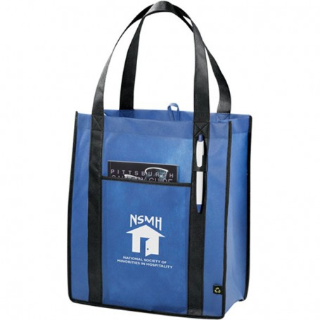 Custom PolyPro Non-Woven Contrast Carry Tote