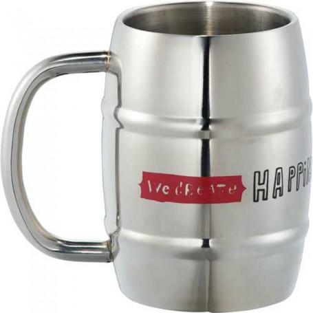 Custom Growl Stainless Barrel Mug 14oz