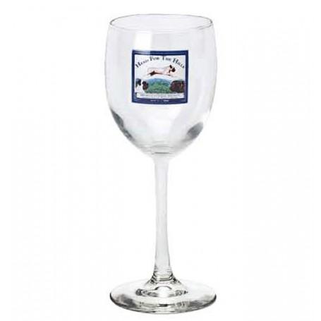 12 oz. Printed White Wine Glass