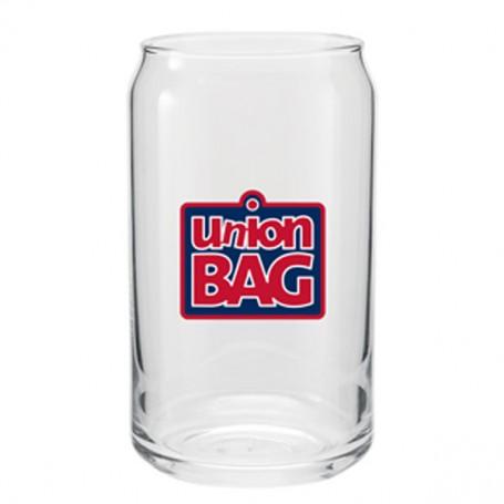 Customizable 16 oz. Plain Glass Soda Can