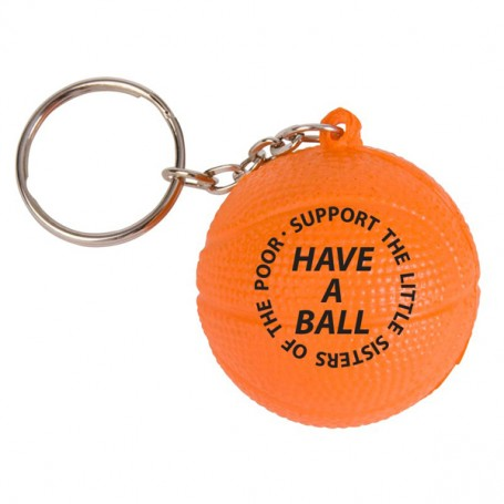 Customizable Basketball Stress Reliever Key Chain