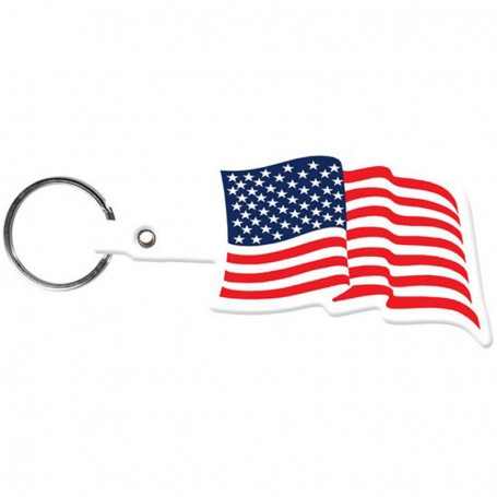 Customizable U.S. Flag Flexible Key-Tag