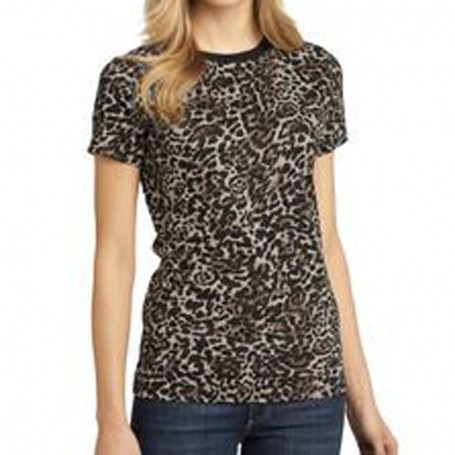 District Made - Ladies Perfect Weight Camo Crew Tee