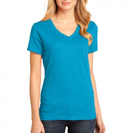 District Made - Ladies Perfect Weight V-Neck Tee