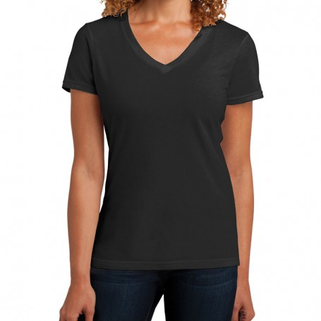 District Made Ladies Perfect Blend V-Neck Tee