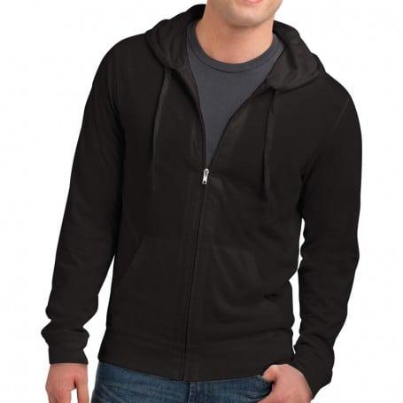 District Young Mens Lightweight Jersey Full-Zip Hoodie