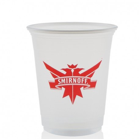 12 oz. Soft Sided Frosted Plastic Cups