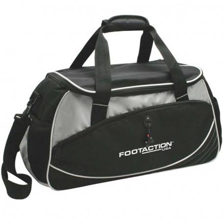 Custom Printed Sports Travel Duffel Bag - Black
