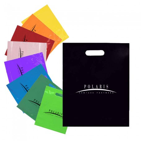 15 x 18 + 4 Logo Fold Over Die Cut Bag