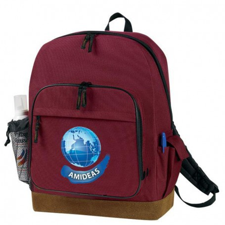 Logo Suede Bottom Backpack with B&P Holder