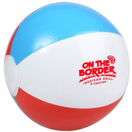 "Printed 10"" Red, White and Blue Beach Ball"