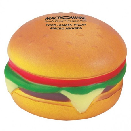 Imprintable Hamburger Stress Reliever