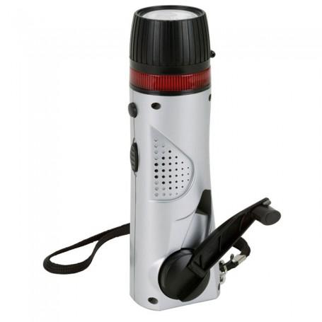 Imprintable Mini Survival Flashlight/Radio