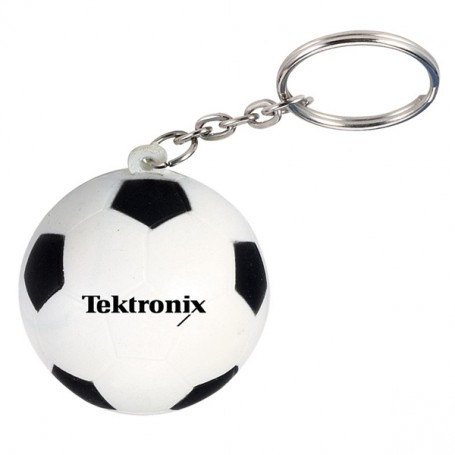 Imprintable Soccer Stress Reliever Key Chain