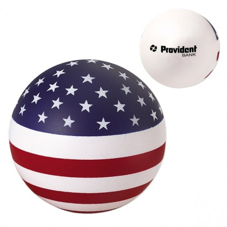 Imprintable USA Round Ball Stress Reliever