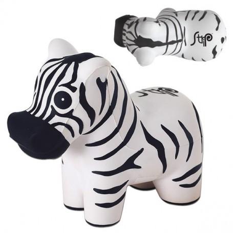 Imprintable Zebra Stress Reliever