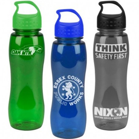 Imprinted 25 oz. Poly-Pure Slim Grip Bottle with Crest Lid